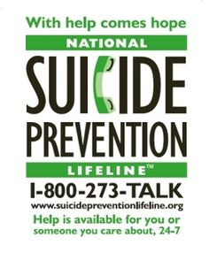 Suicide prevention is 100% preventable. Speak up and reach out. Here is a PSA video I made about suicide prevention. http://lovingwithdepression.weebly.com/blog/psa-suicide-prevention