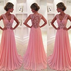 Contact us:aftersale@simple-dress.com You can also order this from our site for more color&size&delievery options: https://www.simple-dress.com/classic-a-line-v-neck-floor-length-pink-prom-dress-evening-dress-with-appliques.html 1. Besides the picture color, you can also choose