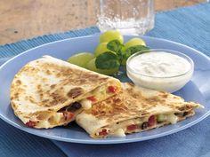 Greek Quesadillas  http://www.bettycrocker.com/recipes/greek-quesadillas/96d9e528-53cf-4dfd-bfc5-e0d8d7a9985c