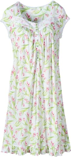 5d4b9f01ef Eileen West Timeless Tulips Waltz Nightgown  You can t help but feel that  spring