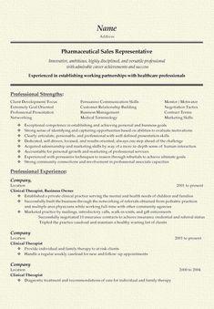 pharmaceutical sales resume example