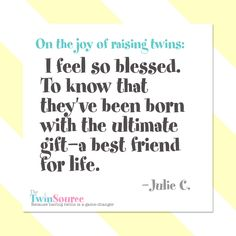 On the joy of raising twins.