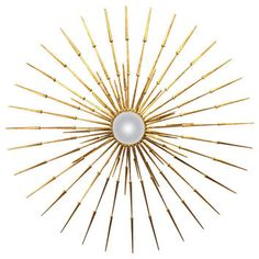 A Spectacular Lensed and Gilded Metal Wall Sculpture by American Artist Del Williams