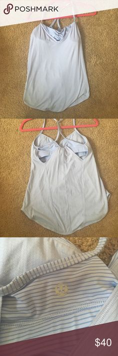 Purple cutout lulu tank This fun and flirty tank is the perfect tank for a hot yoga sesh or a quick run. Size 6 and in great condition. Recommended for someone with a smaller bust lululemon athletica Tops Tank Tops