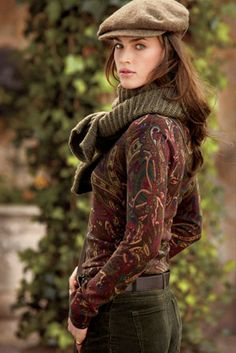 Remember, paisley is every bit as Scottish as plaid, originating in Paisley, Scotland. Or in this case, Ralph Lauren ~ Plush Paisley Estilo Fashion, Look Fashion, Womens Fashion, Fall Fashion, Fashion Trends, Mode Country, Country Wear, Country Style, Casual Chique