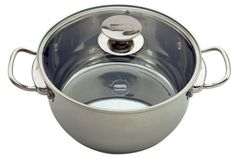 Berndes Cucinare Induction Stainless Steel 9.1 Quart Stock Pot with Lid