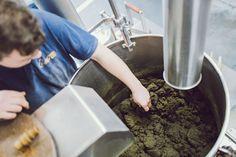 Guten Morgen aus unserer Produktion⏲️ Bei uns läuft die Produktion von kaltgepressten Ölen zum Glück auf Hochtouren. 💪 Hier wird gerade Steirisches Kürbiskernöl g.g.A. gepresst. Unser Kollege Hannes überprüft die Konsistenz der Knetmasse aus gemahlenen Kürbiskernen, Salz und Wasser für den nächsten Produktionsschritt, das Rösten. Die Qualität unserer steirischen Kürbiskerne erkennt man hier auch deutlich an der satten, grünen Farbe. Pesto, How To Dry Basil, Food, Vinegar, Salt, Play Dough, Good Morning, Water, Colour
