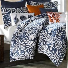 Harbor House Pacifica Duvet Mini Collection - All Bedding Sets - Bedding Sets - Bed & Bath Queen Comforter Sets, King Duvet, Queen Duvet, Duvet Sets, Duvet Cover Sets, Blue Color Schemes, Bedroom Color Schemes, Bedroom Colors, Bedroom Decor