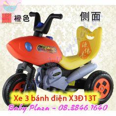 http://xemotodienchobe.taihcm.net/2013/12/xe-moto-dien-cho-be-x3D13T.html  - Danh mục sản phẩm: xe máy điện trẻ em Đối với lứa tuổi 3-6 tuổi  [kích thước xe] 70.0 * 38 * 55 (CM)  [thân xe NW] 5,8 kg  [GW] 7 kg  [pin] van điều tiết khô loại (6V 4Ah)  [Thời gian sạc] 8-12 giờ trong một lần sạc không thể có nhiều hơn 20 giờ  [xe tốc độ] 2,5 km / h  [sạc điện áp đầu vào] AC 220V 50Hz  [sạc ra] DC 6V 500mA  [Giới hạn tải] 25kg  [màu sắc] màu xanh / đỏ