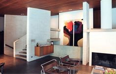 An Icon Intact on http://www.habitusliving.com. HARRY SEIDLER'S GISSING HOUSE. EXPOSED BLOCK. OFF FORM CONCRETE. STAINED TIMBER CEILING. SKILLION ROOF. 1970s INTERIOR. MODERNIST