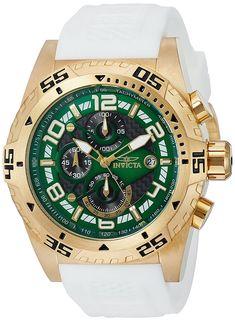 Invicta Para Hombres Pro Diver Reloj De Silicona Blanca 24712 Reloj  Inteligente aaaaf56097b5