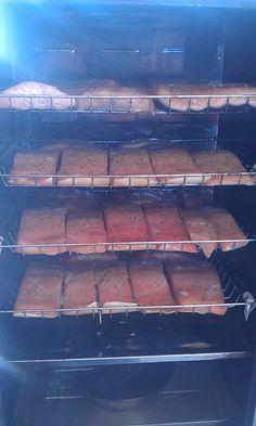 Salmon in the Bradley Smoker