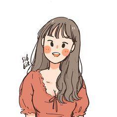 Cartoon Girl Drawing, Girl Cartoon, Cartoon Drawings, Cute Drawings, Cute Art Styles, Cartoon Art Styles, Character Art, Character Design, Dibujos Cute