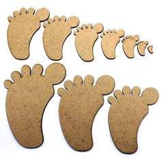 Foot / Feet Craft Shapes, Embellishments, Tags, Decorations, 2mm MDF Wood in Crafts, Woodworking | eBay