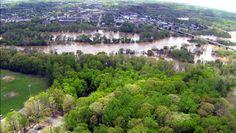 Flooding Rappahannock roars through Fredericksburg
