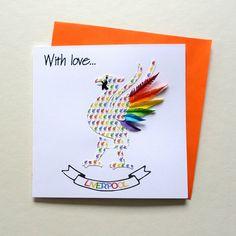 Rainbow Images, Sunflower Cards, Rainbow Card, Colorful Feathers, Bird Cards, Beautiful Artwork, All Print, Lgbt