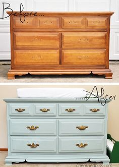 My plans for the dresser to turn into changing table for the nursery -AS