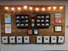 Parent Resource Wall-GT Church by Jennifer Fisher