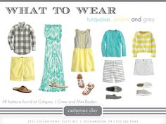 Catherine Clay Photography: Spring what to wear, family pictures, yellow and turquoise