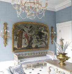 The Bird Room, Charleston house. LOVE everything Carolyne Roehm does