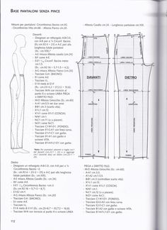 The best DIY projects & DIY ideas and tutorials: sewing, paper craft, DIY. DIY Women's Clothing : from La tecnica dei modelli uomo donna 1 -Read Sewing Pants, Sewing Clothes, Diy Clothes, Clothing Patterns, Sewing Patterns, Patterned Jeans, Pattern Drafting, Love Sewing, Fabric Manipulation