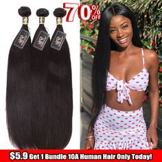 Hair Unit: human hair inches in stock. Human straight hair wave bundles are a great choice Natural Hair Wigs, Long Hair Wigs, Natural Looking Wigs, Human Hair Lace Wigs, 100 Human Hair, Natural Hair Styles, Long Hair Styles, Straight Hair Waves, Colorful Lace Front Wigs