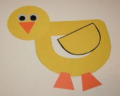toddler letter d crafts | How to make your letter D duck craft: