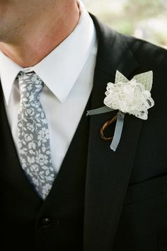 cute vintage lace instead of flowers.... I'd add baby's breath to it