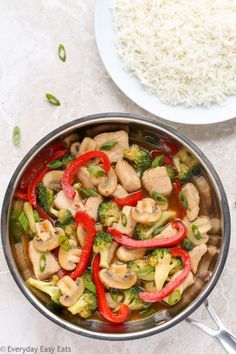 Chicken and Vegetable Stir-Fry - A 20-minute recipe featuring juicy chicken and fresh veggies tossed in the most delicious honey-soy stir-fry sauce.