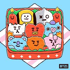 Bts Chibi, Bts Cute, Bt 21, Loli Kawaii, Line Friends, Bts Drawings, Bts Fans, I Love Bts, Bts Lockscreen