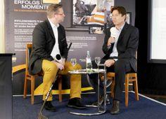 XING Event in Köln mit Uwe Krupp, Trainer des KEC. Moderator ist Harry Flint