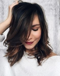 dark+brown+balayage