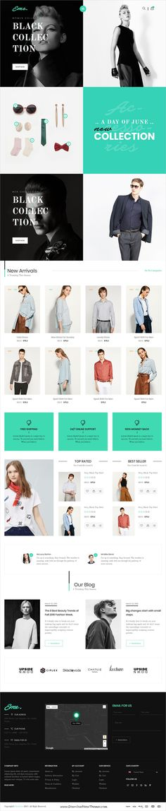 Eme is clean and modern design 5in1 responsive bootstrap template for stunning #fashion store eCommerce website to live preview & download click on Visit  #websitedesign #onlineshop