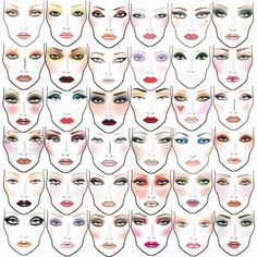 Love faces of M.A.C Mac Makeup Looks, Love Makeup, Hair Makeup, Makeup Style, 80s Makeup, Makeup Eyebrows, Awesome Makeup, All Things Beauty, Beauty Make Up