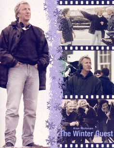 """1996 - Alan Rickman directing """"The Winter Guest"""", which he also co-wrote."""