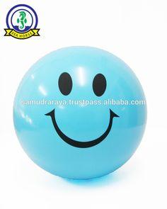 High Quality Pvc Inflatable Beach Balls Emoji Fun Beach Ball 30cm 0.12-0.13mm