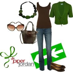 Audri tote chocolate and Jaida necklace green