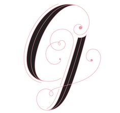G is for Gretchen. Typography by designer/illustratorJessica Hische via www.dailydropcap.com.