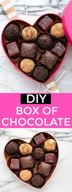 Make your own homemade truffles for a DIY box of chocolates: red wine chocolate truffles as a Valentines Day dessert for two. Best valentines gift idea!