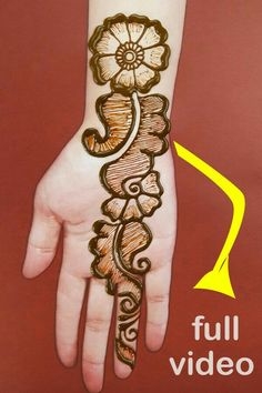 very easy mehndi designs for hands hope you like this simple henna designs tutorial. Henna Tattoo Designs Simple, Mehndi Designs For Kids, Full Hand Mehndi Designs, Mehndi Designs For Beginners, Mehndi Designs 2018, Stylish Mehndi Designs, Dulhan Mehndi Designs, Mehndi Designs For Fingers, Mehndi Design Photos