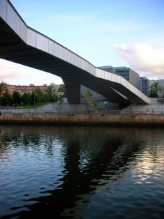 Pedro Arrupe Footbridge, Bilbao, Spain by Jose Antonio Fernandez Ordone