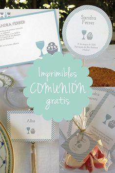 Imprimibles gratis para bodas, fiestas infantiles y Comuniones - DECORACIÓN FIESTAS