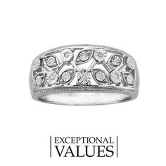Fred Meyer Jewelers | 1/20 ct. tw. Fashion Ring with Rhodium Accent
