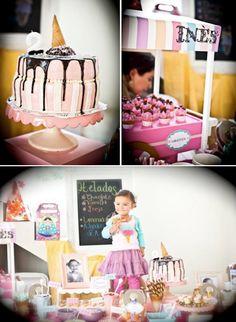 Ice Cream themed 2nd birthday party via Kara's Party Ideas karaspartyideas.com #icecream #party #ideas