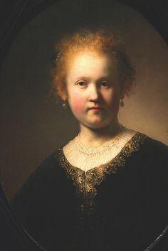 Portrait of a Girl Wearing a Gold-Trimmed Cloak | Rembrandt van Rijn