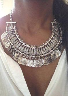 Colar com pendentes prata turca