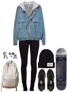 grunge skater girl clothes