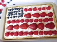 Flag fruit pizza #recipe #4thofjuly