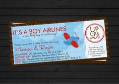 Airplane Baby Shower Invitation Digital File YOU-PRINT. $11.00, via Etsy.