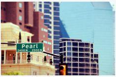 Uptown Dallas Texas Pearl Street Fountain Place